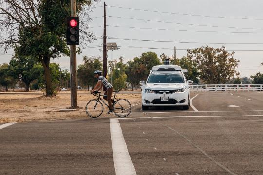 See how self-driving cars prepare for the real world inside a private testing facility owned by Google's autonomous car company, Waymo.