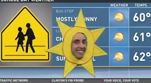 Halloween puts weatherman on Cloud 9