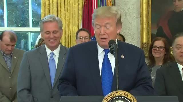 President Donald Trump and Broadcom Chief Executive Hock Tan said on Thursday that the chipmaker is moving its headquarters from Singapore to the United States. Rough Cut (no reporter narration). Video provided by Reuters