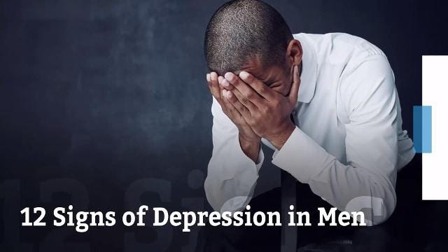 12 signs of depression in men