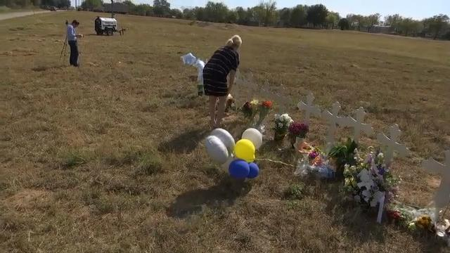 Crosses dot landscape for Texas church victims