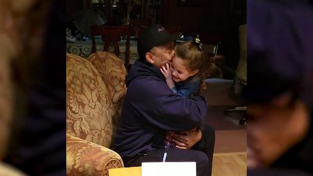 Stepdad blown away by stepson's incredible surprise