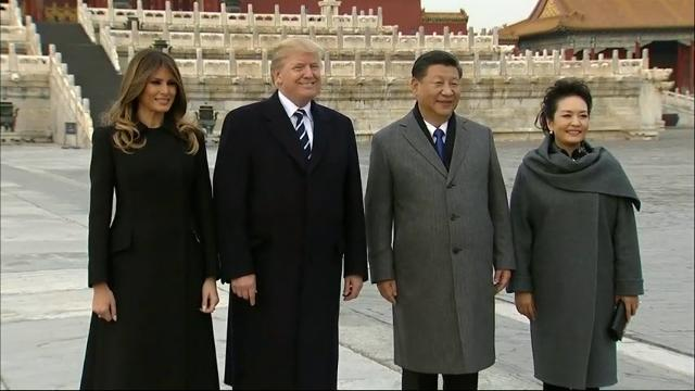 Raw: Trump, Xi tour Beijing's Forbidden City
