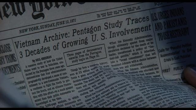 Steven Spielberg tackles the Pentagon Papers with 'The Post'