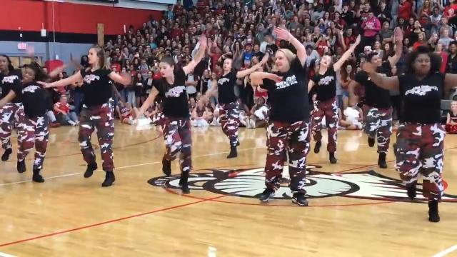 High school principal nails the step team performance