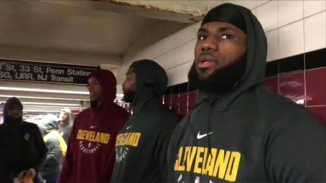 LeBron, Cavaliers cram onto NY subway en route to game vs Knicks
