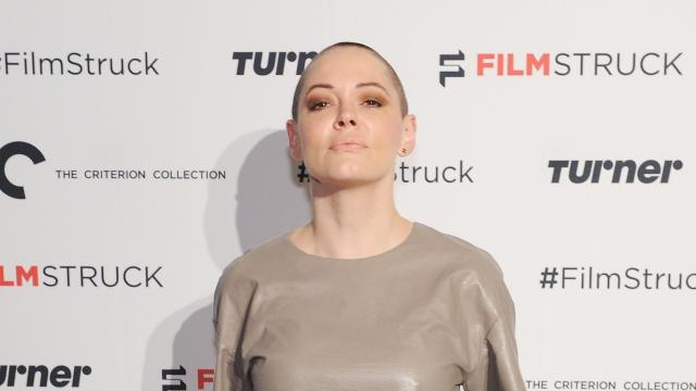 Actress Rose McGowan booked for felony