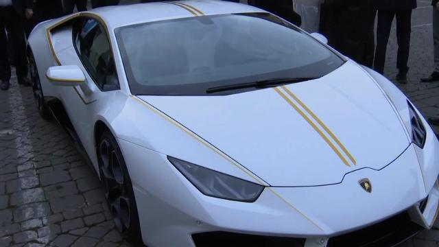 Pope Francis plans to donate his sleek Lamborghini