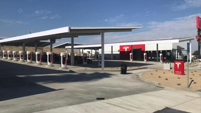 Tesla's newest supercharger stations