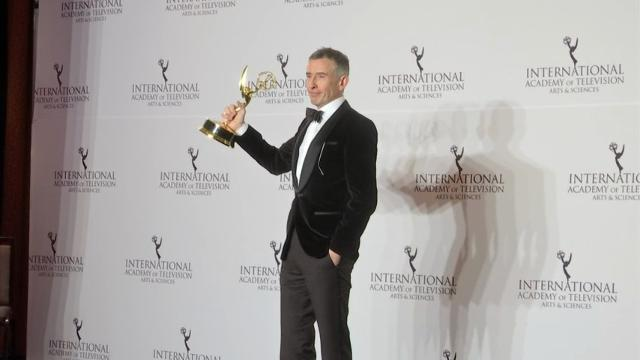 Steve Coogan, Kenneth Branagh, Anna Friel and many, many more backstage at this year's International Emmy Awards. (Nov. 21)