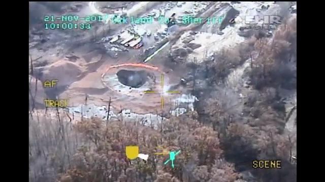 Massive Gas Line Fire in Michigan Burns Out