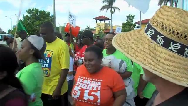 Raw: Haitian Immigrant Rally Outside Mar-a-Lago