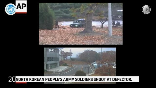 Dramatic Video Shows North Korean Soldier Escape