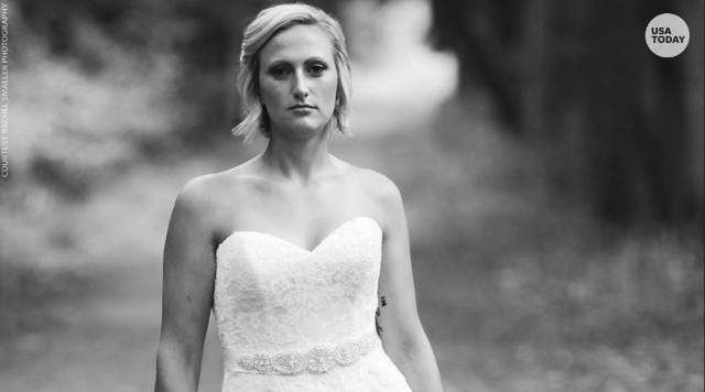 The powerful reason this bride took wedding photos alone