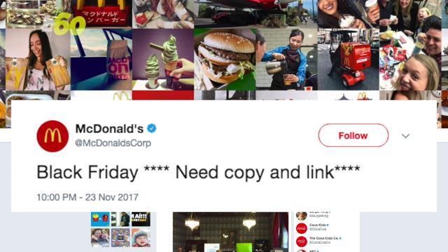 Twitter is lovin' McDonald's Black Friday fail
