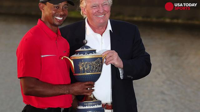 Donald Trump tweets that he will golf with Tiger Woods, Dustin Johnson at Trump National.