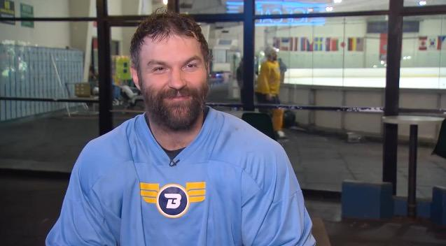 John Scott, a veteran of eight NHL seasons, is starring in a new role, an episode of CBS' new series S.W.A.T.