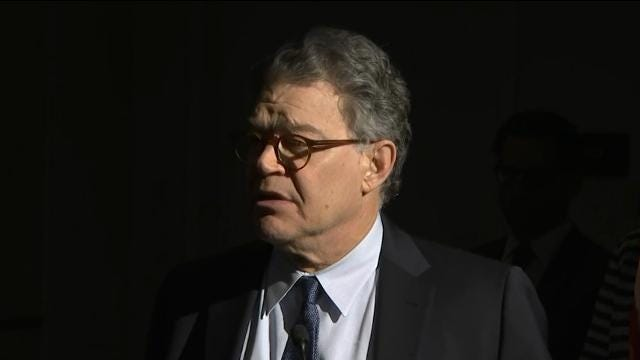 Franken: 'I've let a lot of people down'