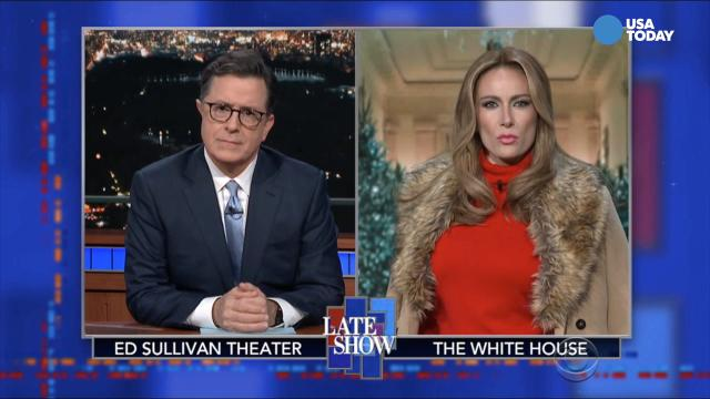 Jimmy Kimmel Christmas.Comics On Melania Trump S White House Christmas In Best Of Late Night