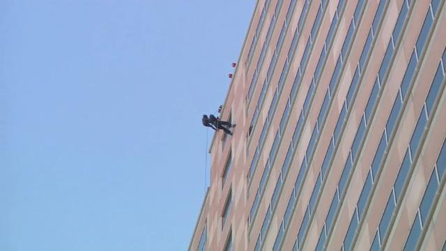Brave Donors Rappel Down Building for Charity