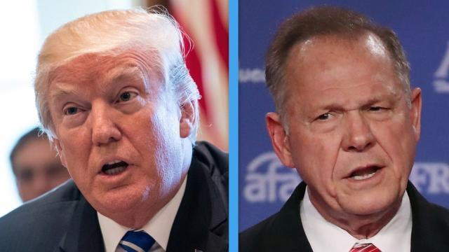 President Trump endorsed Roy Moore