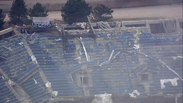 Raw: 2nd Blast Brings Down Section of Silverdome