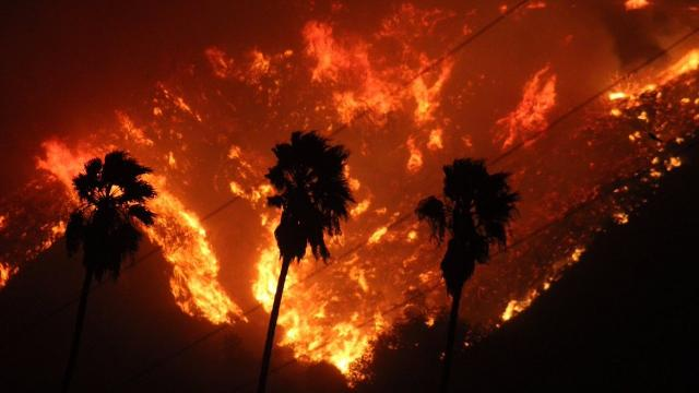 At least 1 dead As fast-moving Brush fire scorches southern California