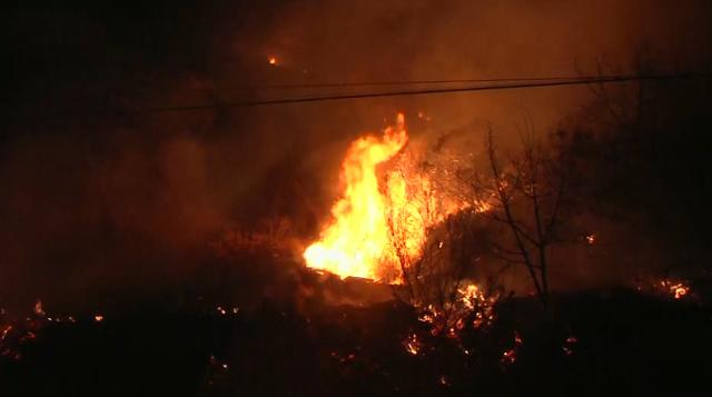Ventura County wildfire spreading as fast as the wind