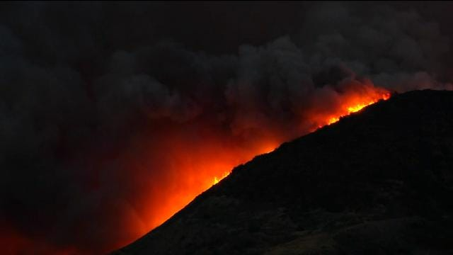 Raw: Biggest California fire burns 180 Sq. miles