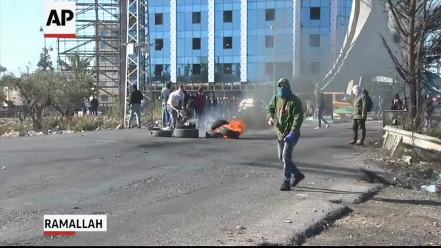 Raw: West Bank protests over U.S. Jerusalem policy