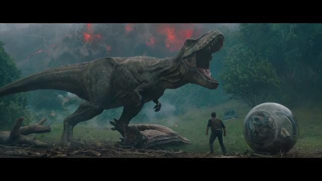 Mother Nature brings new threat to 'Jurassic World: Fallen Kingdom'