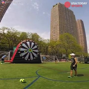 Soccer Dart Game, you would need some really good aiming for this game. Credit to: @vicfreestyle