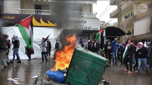 Violence erupts at U.S. embassy in Lebanon