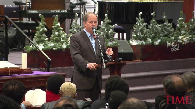 Democrat Doug Jones held campaign ahead of Alabama senate race