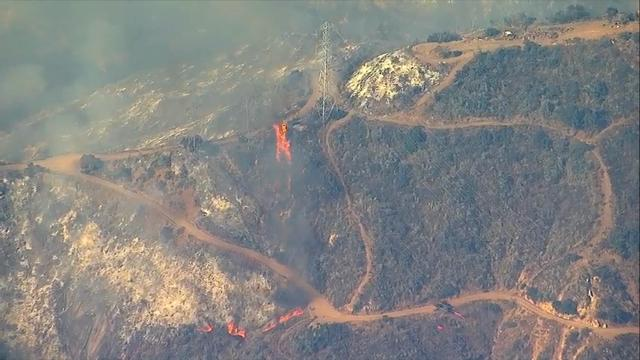 Flames churn through Santa Barbara region
