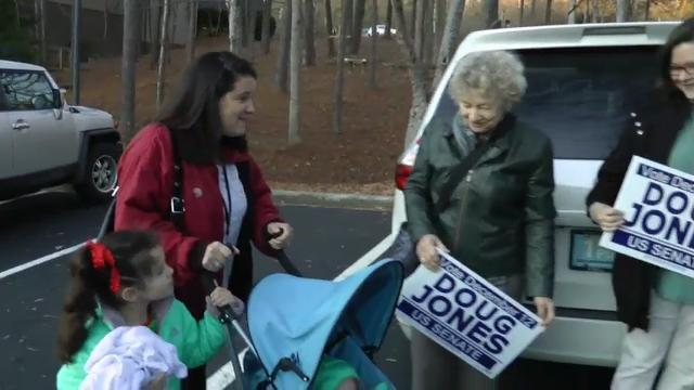 Alabama Democrat Doug Jones Votes in Senate Race