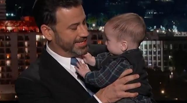 Jimmy Kimmel brings son out for emotional monologue