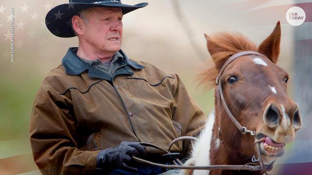 Roy Moore proves arriving on horseback is OK sometimes