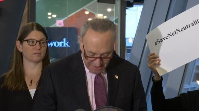Schumer Backs Override Of Net Neutrality Repeal
