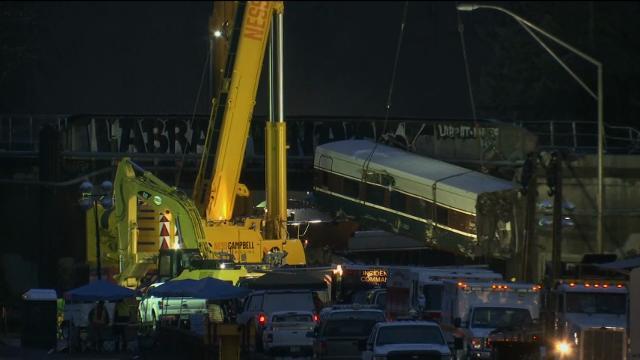 Amtrak Cars Removed From Washington Crash Site