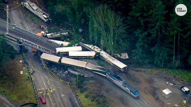 Amtrak survivor thought train 'was going to collapse on me'
