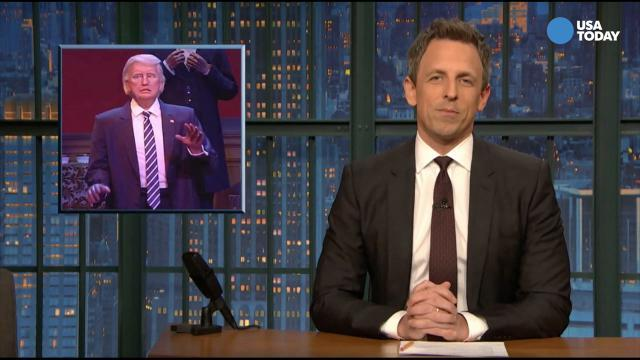 Jimmy Fallon, Seth Meyers on animatronic Trump at Disney in Best of Late Night