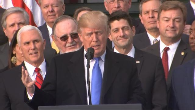 Republicans Celebrate Tax Bill With Trump at WH