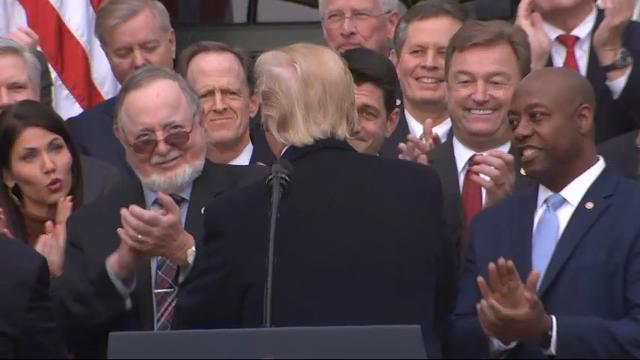Trump Thanks Lawmakers for Passing Tax Bill