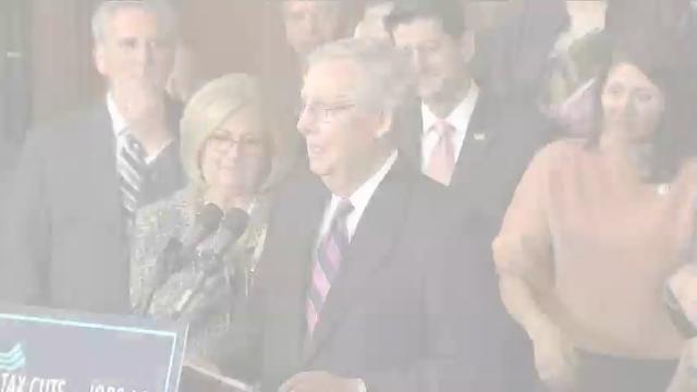 Republicans celebrate tax bill passage