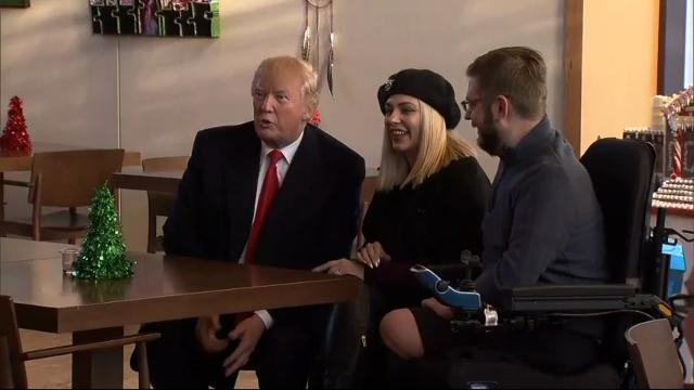 Raw: Trump Visits Wounded Troops at Walter Reed
