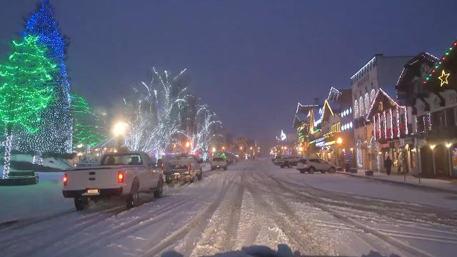 Take a drive through the Bavarian Village of Leavenworth, Washington and let your Christmas cheer shine just as bright as these lights!