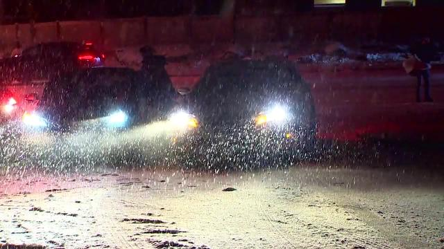 Parts of the northwest dealt with dangerous driving conditions on one of the busiest travel weekends of the year.