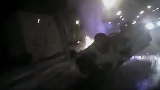 CAUGHT ON CAMERA: Milwaukee officers save two teenagers from burning auto