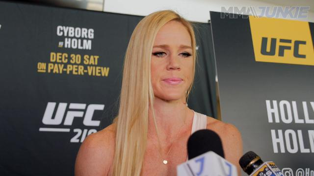 Former women's bantamweight champion Holly Holm spoke to MMAjunkie ahead of UFC 219 at ultimate media day in Las Vegas.